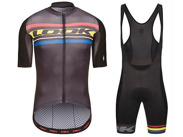 Conjunto Ciclismo Bretelle e Camisa Look