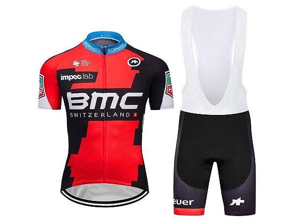 Conjunto Ciclismo Bretelle e Camisa BMC