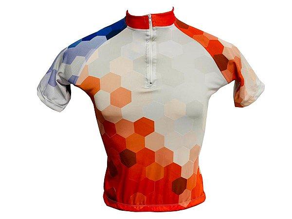 Camisa Ciclismo MTB Feminina Favo de Mel