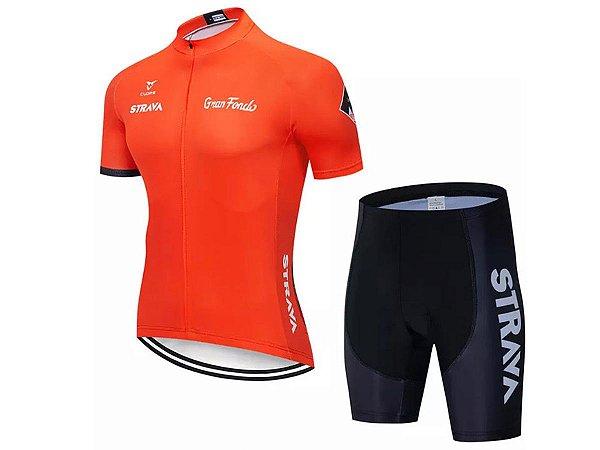Conjunto Ciclismo Bermuda e Camisa Strava