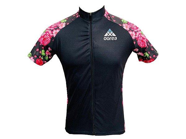 Camisa Ciclismo MTB Feminina Floral