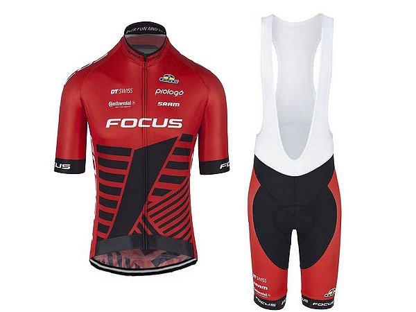 Conjunto Ciclismo Bretelle e Camisa Focus