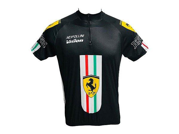 Camisa Ciclismo Montain Bike Ferrari