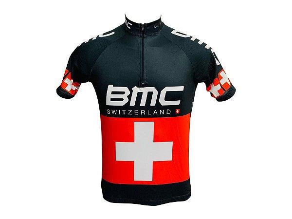 Camisa Ciclismo Mountain Bike BMC Suiça