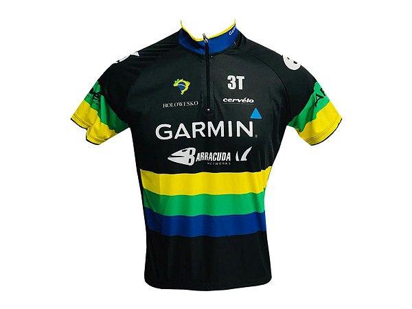 Camisa Ciclismo Mountain Bike Garmin Brasil