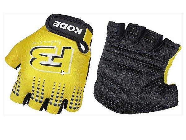 Luva Ciclismo Mountain Bike Kode F3 Noban Amarela