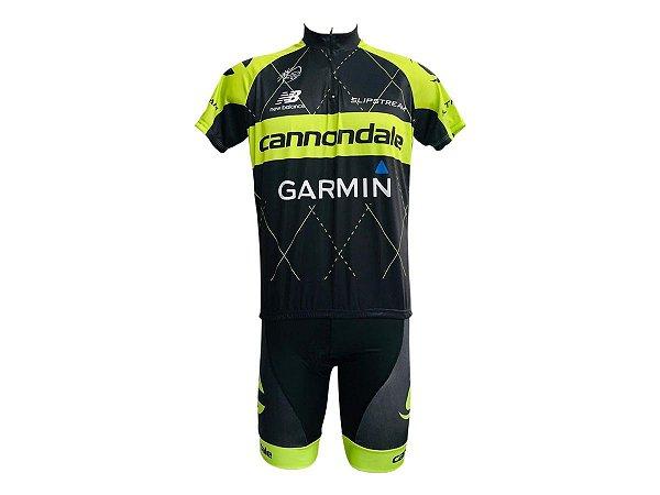 Conjunto Ciclismo Bermuda e Camisa Cannondale Garmin