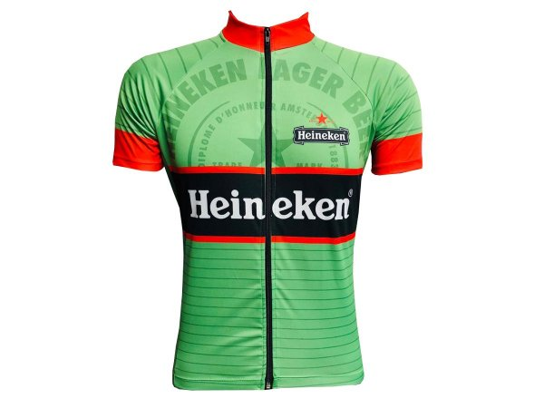 Camisa Ciclismo Mountain Bike Heineken Zíper Total