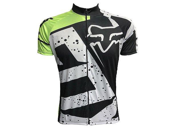 Camisa Ciclismo Mountain Bike Fox Zíper Full