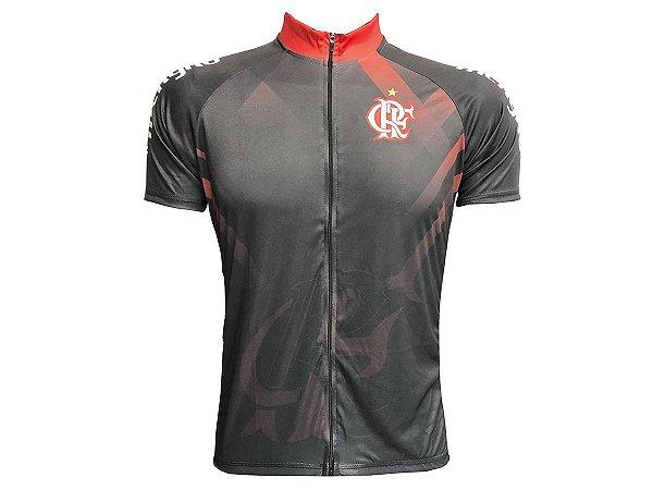 Camisa Ciclismo Mountain Bike  Flamengo Zíper Total