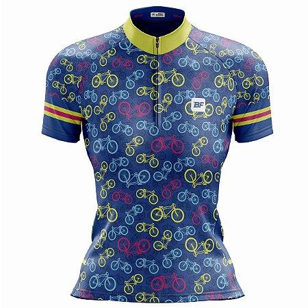 Camisa Ciclismo Mountain Bike Feminina Bikes