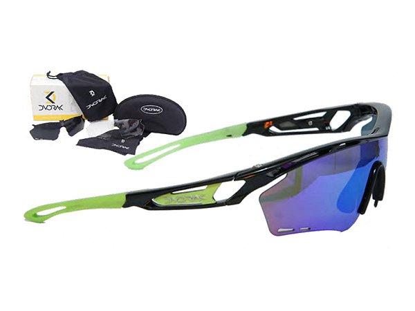 Óculos Ciclismo Mountain Bike Dvorak Verde 3 Lentes
