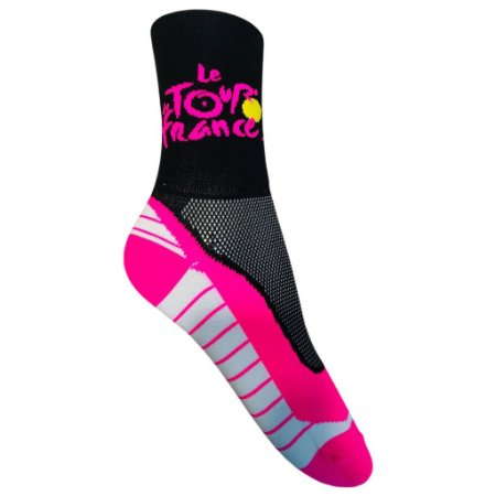 Meia Ciclismo Cano Longo Le Tour de France Rosa