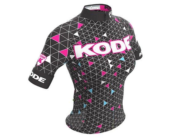Camisa Ciclismo Mountain Bike Feminina Kode Geometric