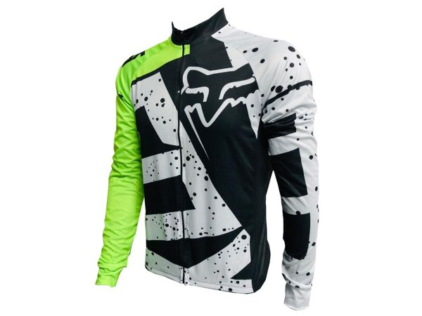 Camisa Ciclismo Mountain Bike Manga Longa Fox Racing