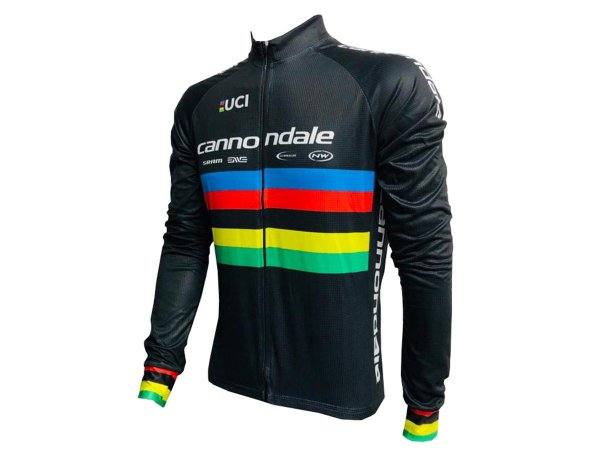 Camisa Ciclismo Mountain Bike Manga Longa Zíper Total Cannondale Uci