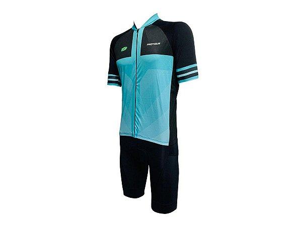 Conjunto Bermuda e Camisa Smart Pro Tour Aglié Forro em Gel