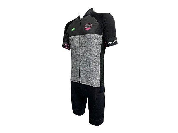 Conjunto Ciclismo Bermuda e Camisa Smart Pro Tour Pisa Forro em Gel