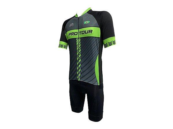 Conjunto Ciclismo Bermuda e Camisa Smart Pro Tour Roma Forro em Gel