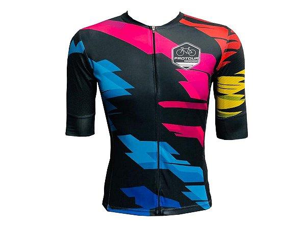 Camisa Ciclismo Mountain Bike Pro Tour Marselha Premium Zíper Total