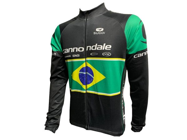 Jaqueta Ciclismo Mountain Bike Cannondale Brasil Zíper Total