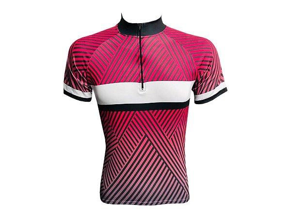 Camisa Ciclismo Mountain Bike Feminina Zebra Rosa
