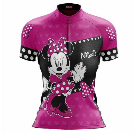 Camisa Ciclismo Mountain Bike Feminina Minnie Rosa