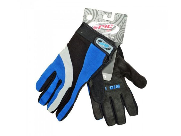 Luva Ciclismo Mountain Bike Epicline Gel Azul Dedo Longo