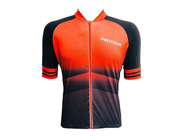 Camisa Ciclismo Mountain Bike Pro Tour Red Max Zíper Abertura Total