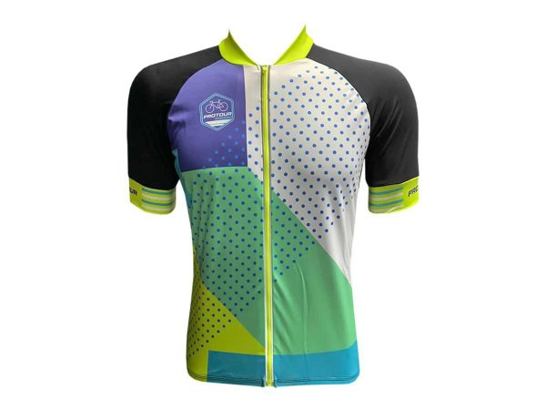 Camisa Ciclismo Mountain Bike Pro Tour Glamour Zíper Abertura Total