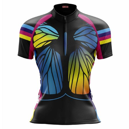 Camisa Ciclismo Mountain Bike Feminina Borboleta