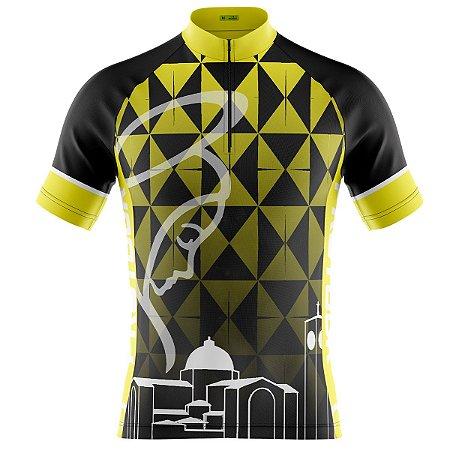 Camisa Ciclismo Mountain Bike Nossa Senhora Amarelo