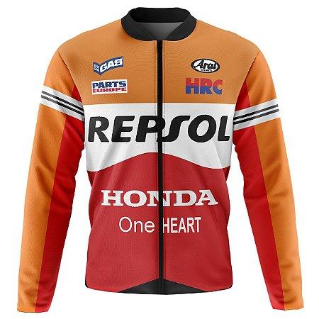 Jaqueta Térmica Ciclismo Mountain Bike Repsol Peluciada ideal para temperaturas baixas