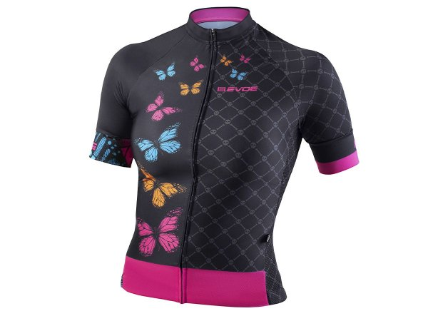 Camisa Ciclismo Feminina Evoe Borboletas