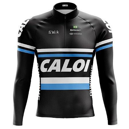 Camisa Ciclismo Mountain Bike Caloi Manga Longa