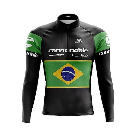 Camisa Ciclismo Manga Longa Cannondale Brasil Manga Longa