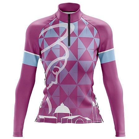Camisa Ciclismo Feminina Nossa Senhora Manga Longa