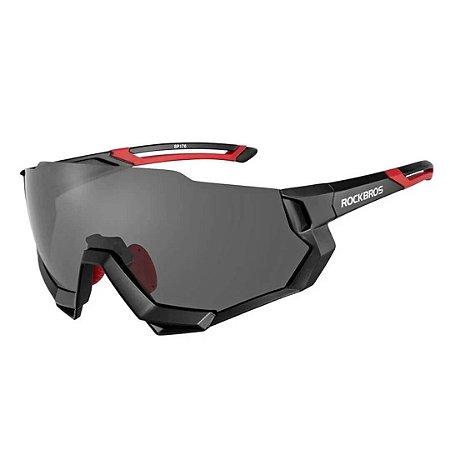 Óculos De Sol Para Ciclismo Rockbross Polarizado 5 Lentes
