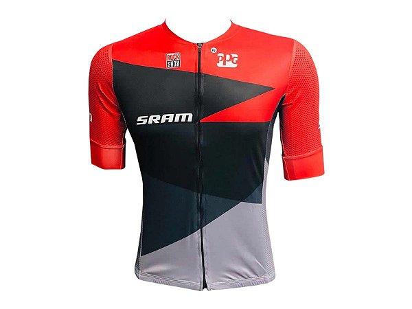 Camisa Ciclismo Mountain Bike Sram Premium Zíper Total
