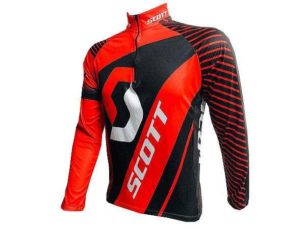 Camisa Ciclismo Mountain Bike Scott Manga Longa