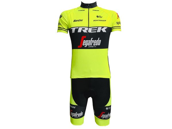 Conjunto Ciclismo Mountain Bike Bermuda e Camisa Trek Segafredo