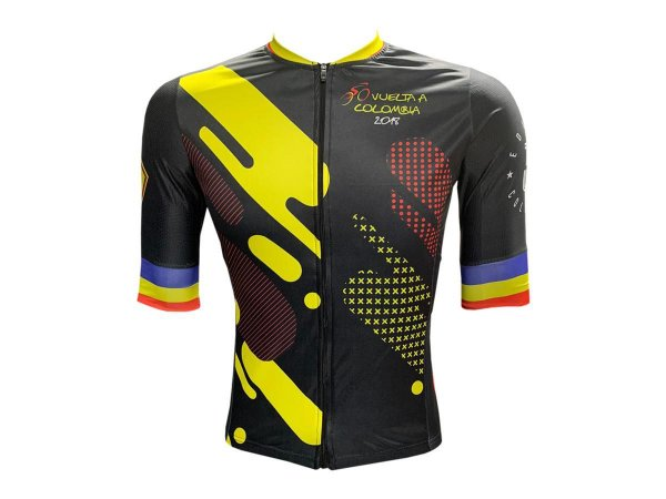 Camisa Ciclismo Mountain Bike Tour Colômbia Premium Zíper Total