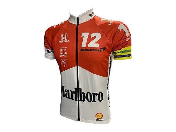Camisa Ciclismo Mountain Bike Malboro Zíper Full