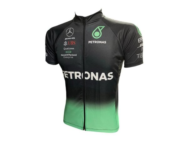 Camisa Ciclismo Mountain Bike Petronas Zíper Full