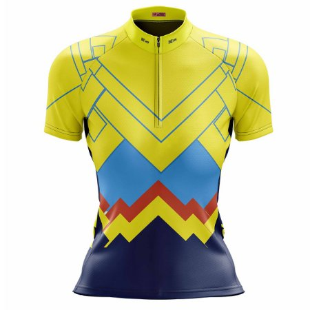 Camisa Feminina Ciclismo Mountain Bike Amarela