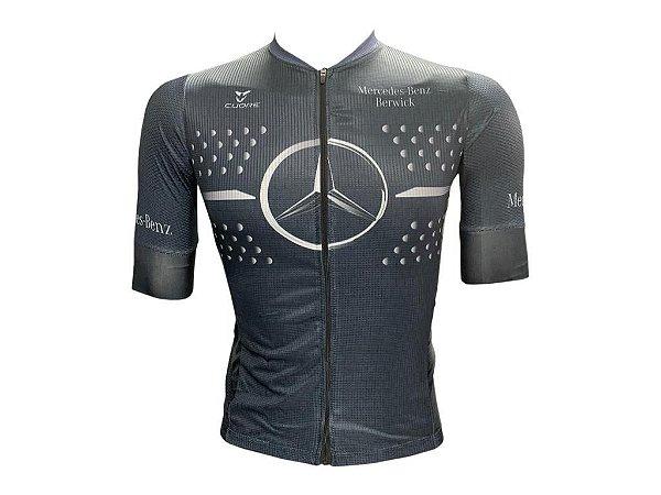 Camisa Ciclismo Mountain Bike Mercedes Benz Premium Zíper Total