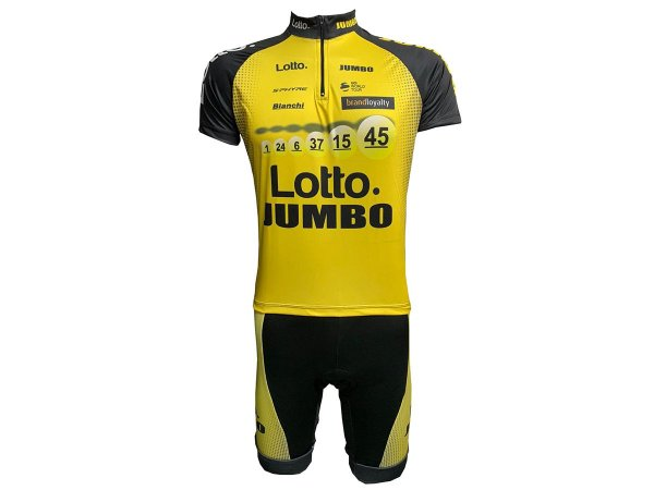 Conjunto Ciclismo Mountain Bike Lotto Jumbo Bermuda e Camisa