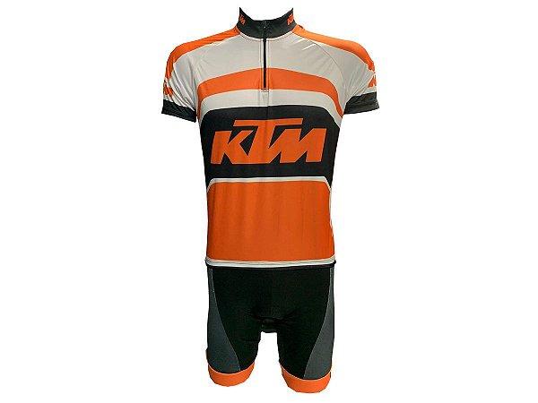 Conjunto Ciclismo Mountain Bike KTM Bermuda e Camisa