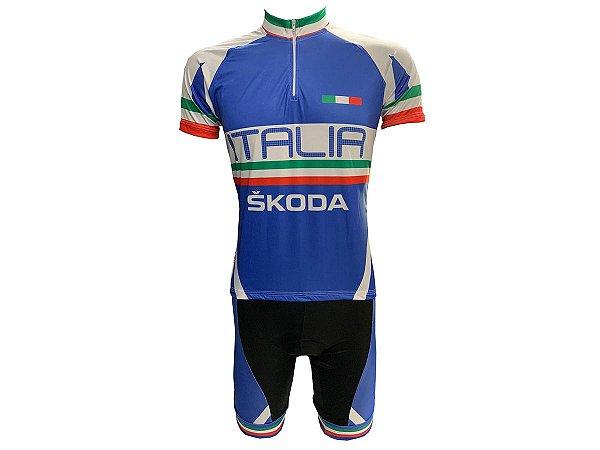 Conjunto Ciclismo Mountain Bike Seleção Itália Bermuda e Camisa