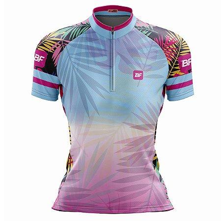 Camisa Feminina Ciclismo Mountain Bike Praia